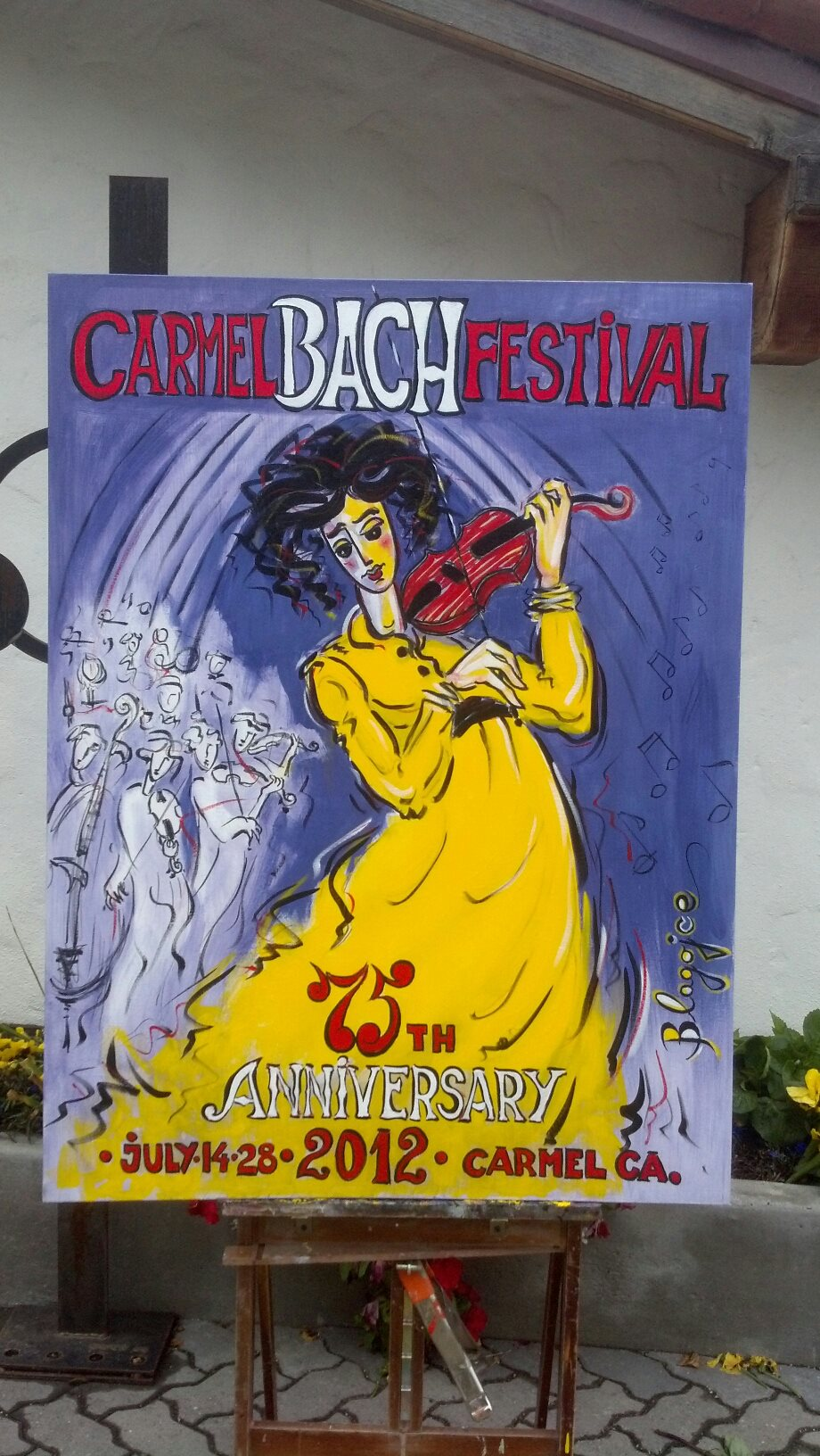 2012 Carmel Bach Festival Poster - in progress